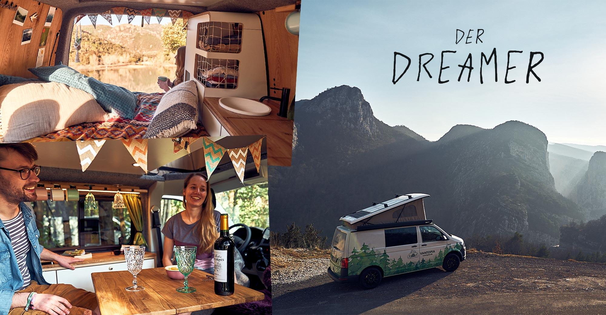 Vantopia Dreamer - kleiner VW-Bus, Bulli, Camper mit Aufstelldach mieten in Hamburg