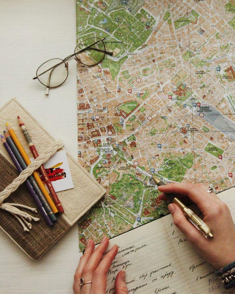 Planung der Reise mit dem Camper