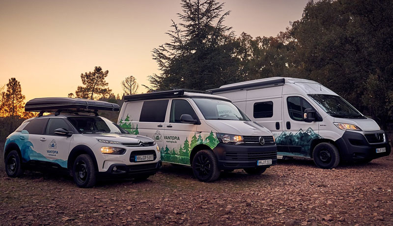 Drei Camper Modelle bei Vantopia – Wähle das richtige Modell für deine Reise