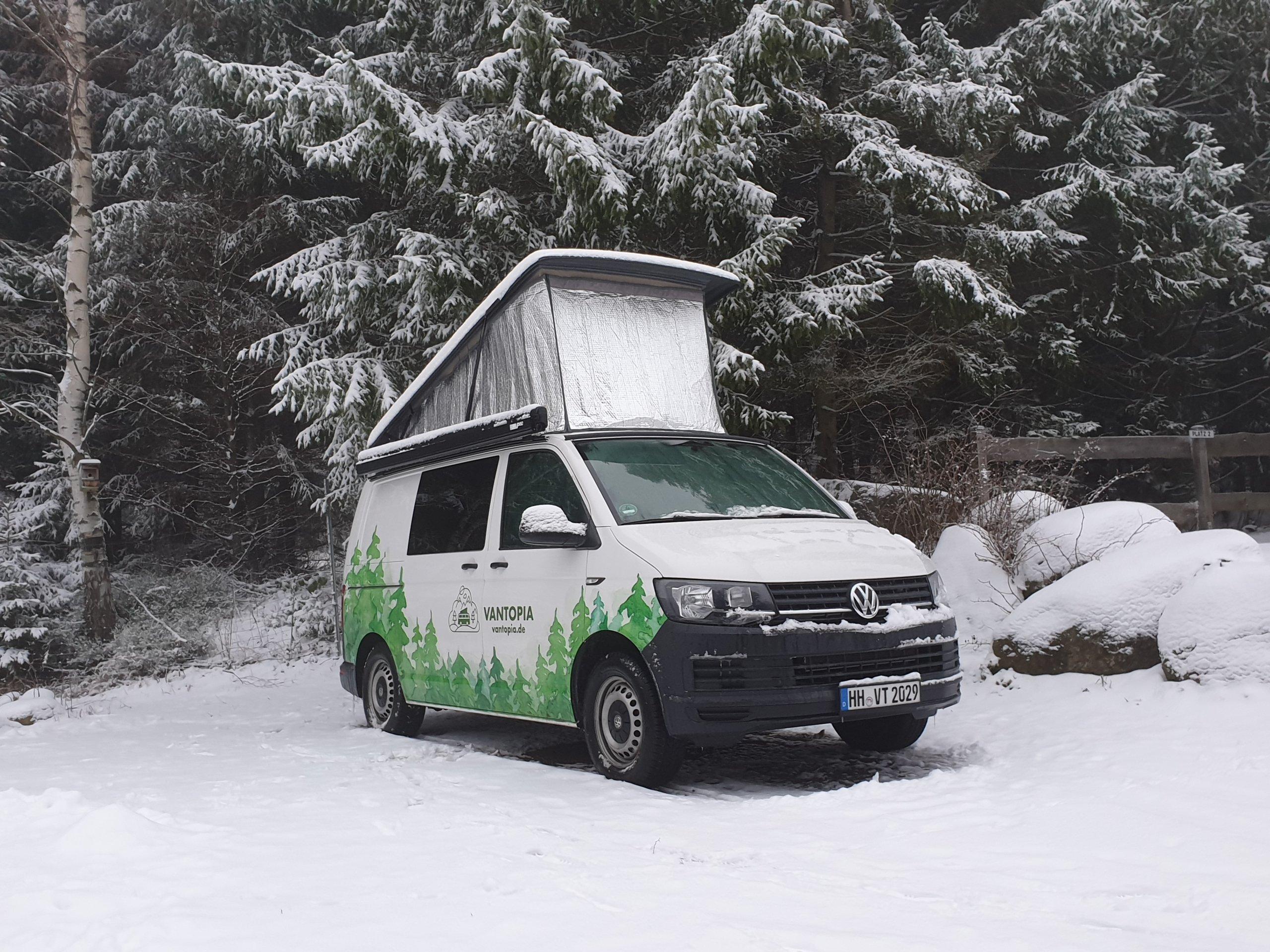 Wintercamping mit Bulli